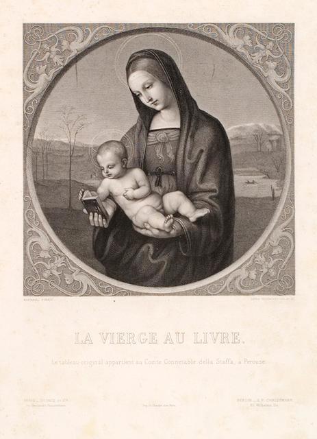 La Vierge Au Livre Le Tableau Original Appartient Au Comte