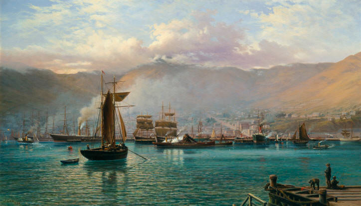 John Gibb - Lyttelton Harbour, N.Z. Inside the breakwater