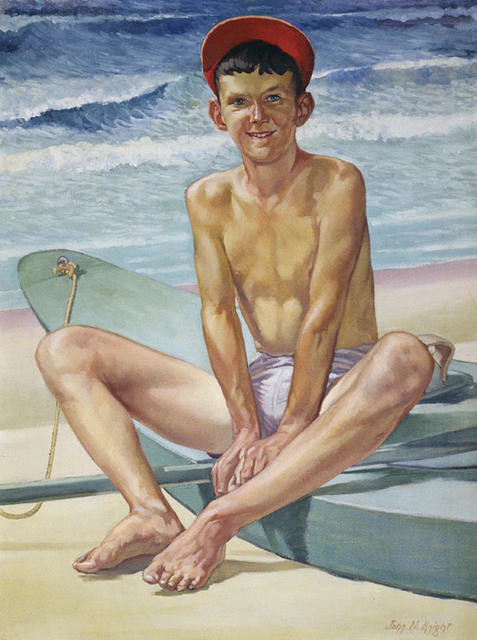 The Green Surf-ski (Portrait Of Leon Latter)