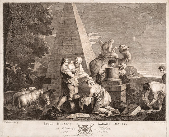 Jacob Burying Laban's Images (In The Cabinet At Houghton)