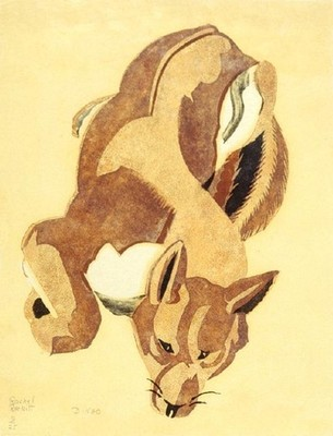 Rachel Reckitt Dingo. Collection of Christchurch Art Gallery Te Puna o Waiwhetū, presented by Mr Rex Nan Kivell 1953