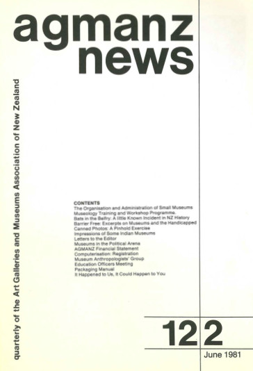 AGMANZ News Volume 12 Number 2 June 1981