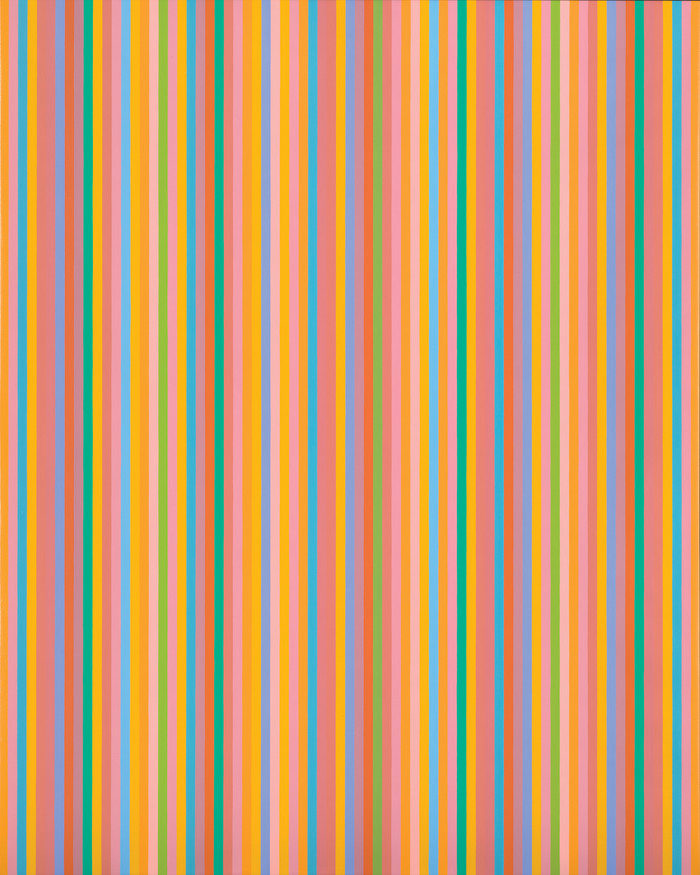 Bridget Riley Aria 2012. Oil on linen. Private collection. © Bridget Riley 2017. All rights reserved