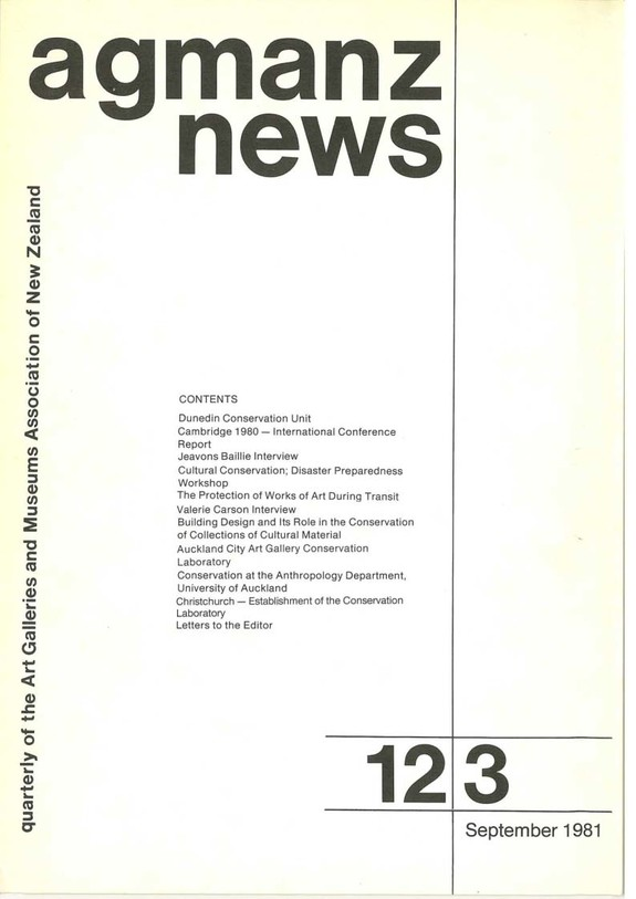 AGMANZ News Volume 12 Number 3 September 1981