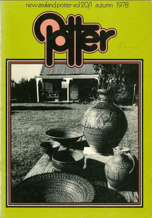 New Zealand Potter volume 20 number 1, Autumn 1978