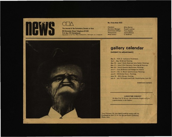 Canterbury Society of Arts News, number 43, May 1972