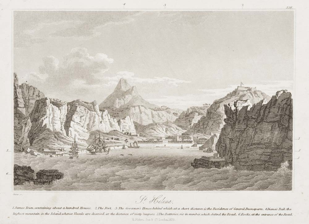 Son & Co. London St Helena 1829. Engraving. Collection of Christchurch Art Gallery library archives