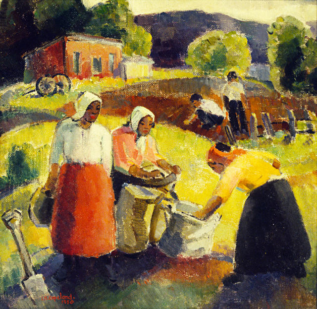 Maori Women Gathering Potatoes (The Market Gardens)