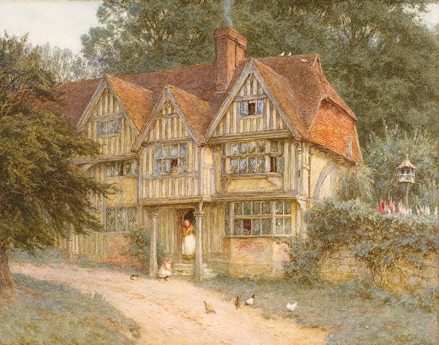 Tudor cottage, Chiddingstone, Kent
