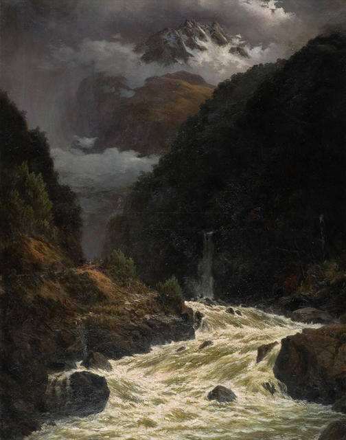 Flood in the Otira Gorge