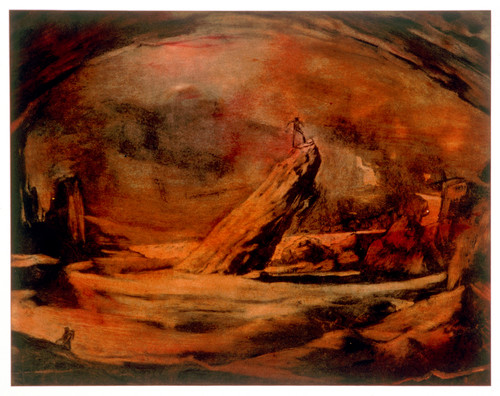 Jason Greig Vulcan Paradise 1998. Monoprint. Collection of Christchurch Art Gallery Te Puna o Waiwhetū, purchased 1998. Reproduced with permission