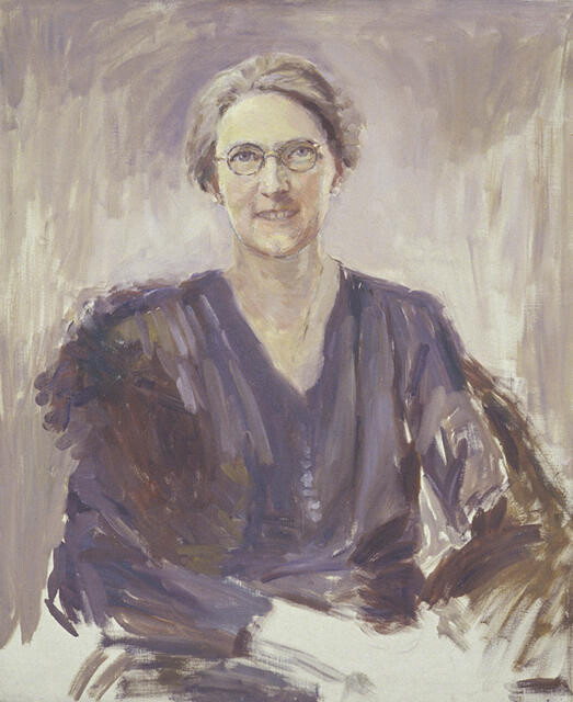 Unfinished portrait of Evelyn Cousins, Mayoress