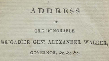 General Walker's address