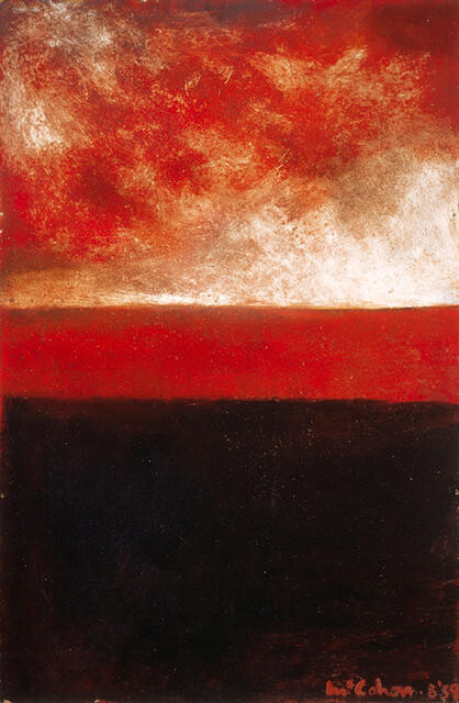 Red and black landscape