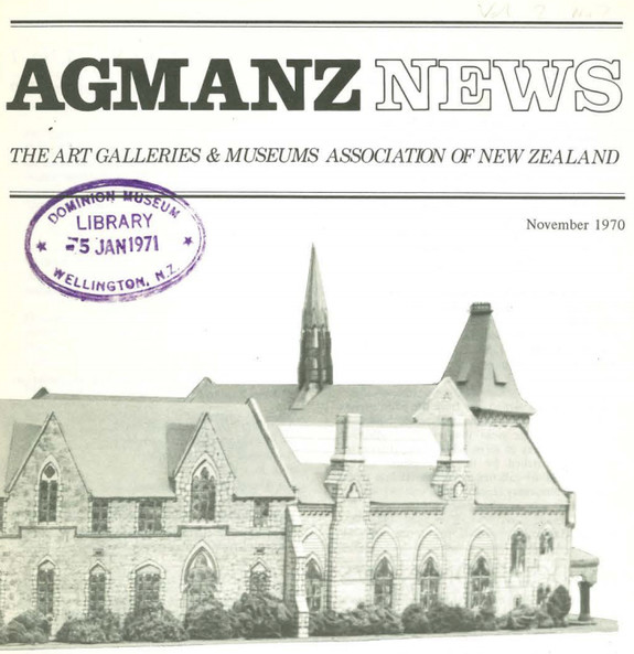AGMANZ News Volume 2 Number 7 November 1970