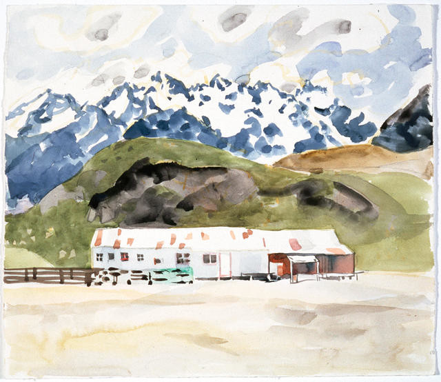 The woolshed and the Remarkables