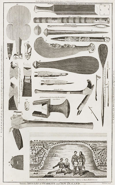 Various Articles of Otaheite and New Zealand