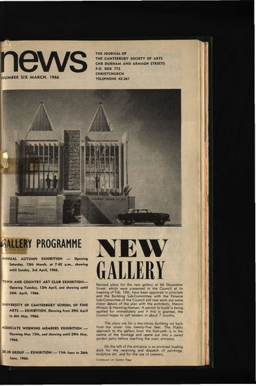 Canterbury Society of Arts News, number 6, March 1966