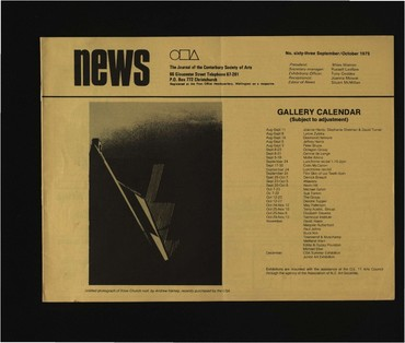 Canterbury Society of Arts News, number 63, September/October 1975