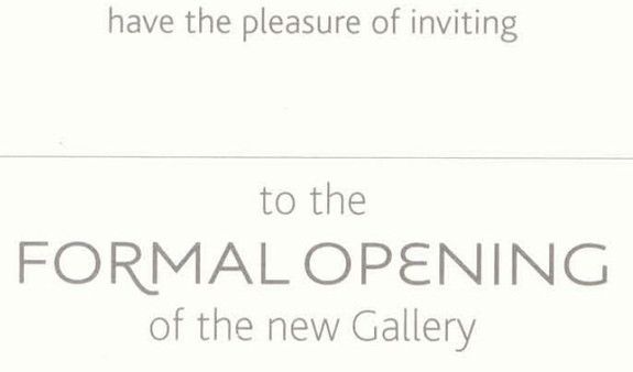 Gallery opening invitation