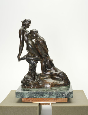 Auguste Rodin Eternal Idol 1959. Bronze. Presented by the New Zealand Government from the New Zealand Fund in France For Cultural Development, 1964