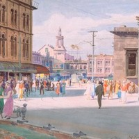 View Of Cathedral Square From Hereford Street by James Fitzgerald