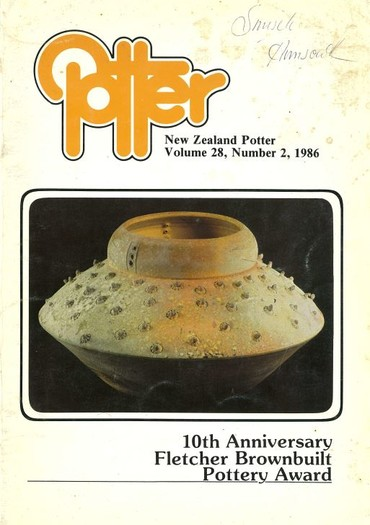 New Zealand Potter volume 28 number 2, 1986