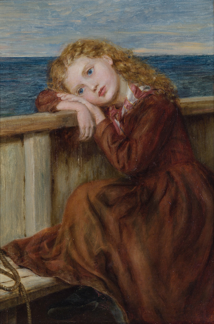 Laura Herford The Little Emigrant 1868. Oil on canvas. Collection of the Suter Art Gallery Te Aratoi o Whakatū, donated by Marjorie Sheat, 2007