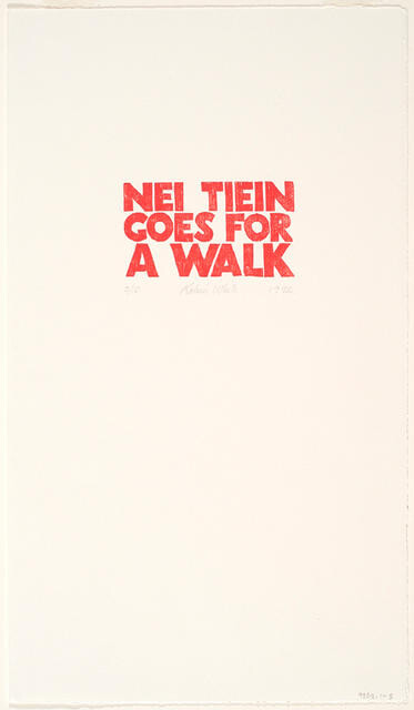 Nei Tiein Goes for a Walk