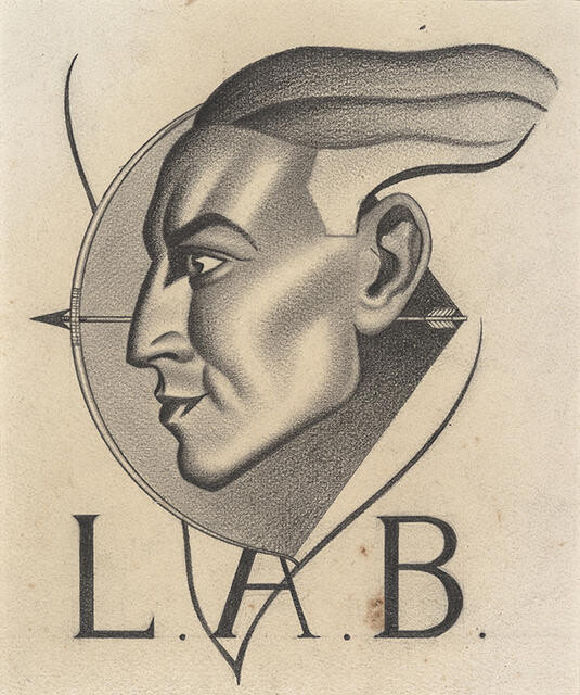 Bookplate design for Lawrence Baigent