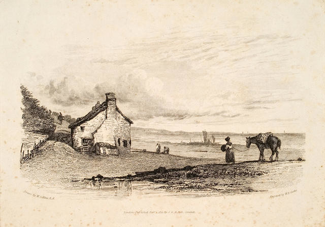 Landscape With Horse, Cottage Etc