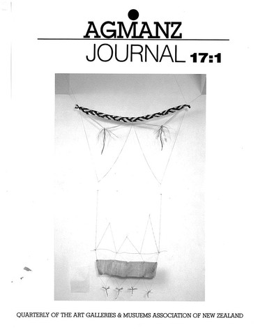 AGMANZ Journal Volume 17 Number 1 Autumn 1986