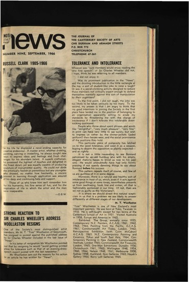 Canterbury Society of Arts News , number 9, September 1966