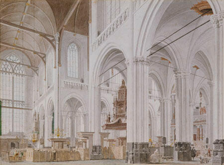Interior of a Cathedral, Haarlem