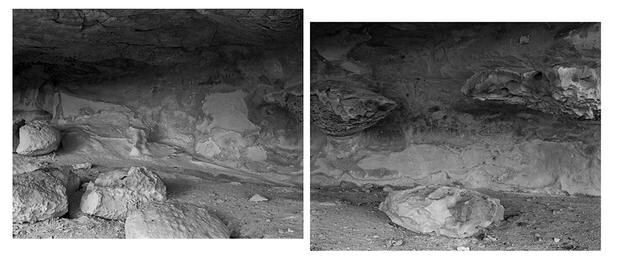 Maerewhenua Site. Waitaki River Valley, North Otago. Pora. ab. Diptych. 2016