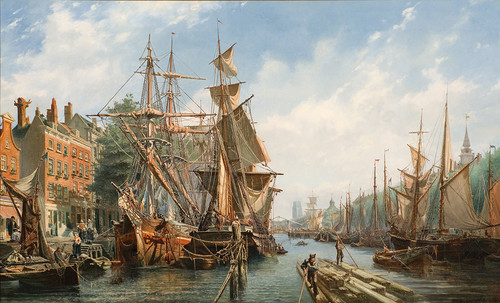 Petrus van der Velden The Leuvehaven, Rotterdam Collection of Christchurch Art Gallery Te Puna o Waiwhetū; purchased 2010, with assistance from Gabrielle Tasman in memory of Adriaan and the Olive Stirrat bequest. Purchase supported by Christchurch City Council's Challenge Grant to Christchurch Art Gallery Trust.