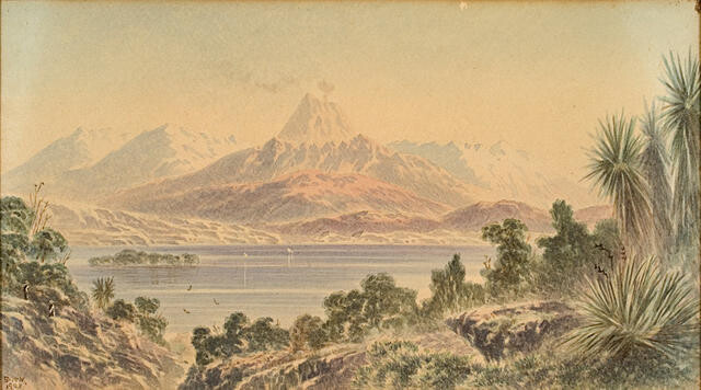 Taupo - Moaria, Tangariro and Ruapehu, North Island, N.Z.