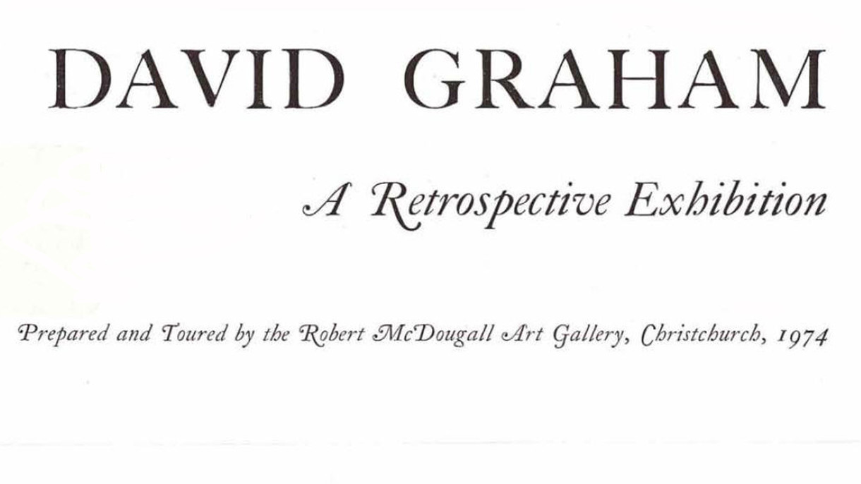 David Graham: A Retrospective Exhibition