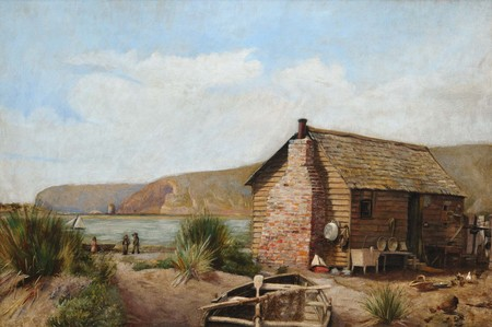 Edith Munnings Fisherman's Hut, Redcliffs c.1889. Oil on canvas. Collection of Christchurch Art Gallery Te Puna o Waiwhetū, presented by G.E. Munnings and C. Munnings, Christchurch 1970