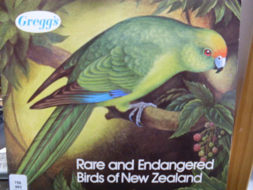 Gregg's Rare and Endangered Birds of New Zealand album with collectable cards designed by Eileen Mayo 1976. Collection of Christchurch Art Gallery Library and Archives