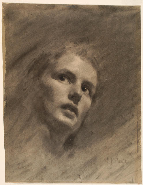 Drawing, head of a girl