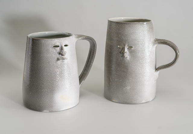 White tankards