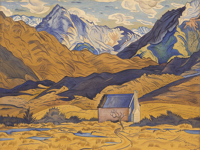 Rita Angus - Mountains, Cass