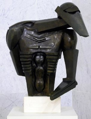 Jacob Epstein Torso in Metal from the 'Rock Drill'. Auckland Art Gallery Toi o Tāmaki, purchased 1961