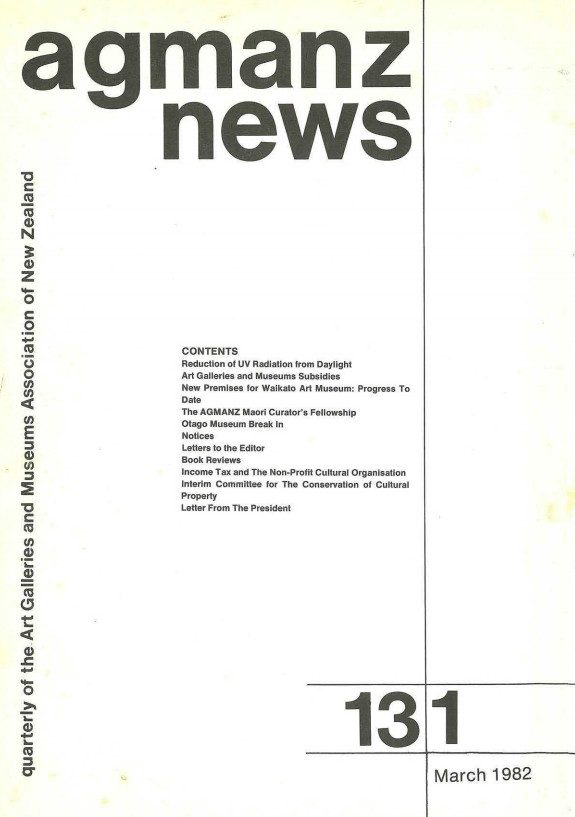 AGMANZ News Volume 13 Number 1 March 1982