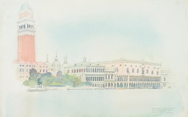 The Doges' Palace and St Marks From The Punta Della Dogana Venice 6 May 1974