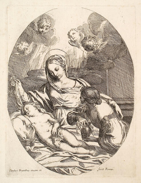The Virgin And Child With St Mary Magdalene
