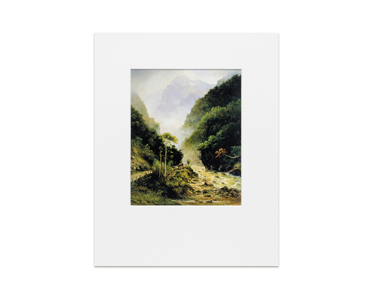 Clearing up, Otira Gorge - Print