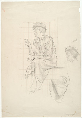 William Sutton Olivia Spencer Bower. Pencil. Collection of Christchurch Art Gallery Te Puna o Waiwhetū, gift of the artist 1978