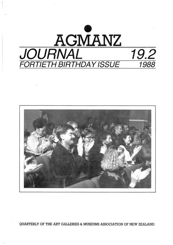AGMANZ Journal Volume 19 Number 2 Fortieth Birthday Issue 1988